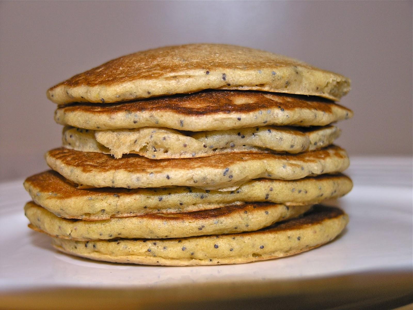 Life with JaM: Whole Wheat Lemon Poppyseed Pancakes with Lemony Glaze
