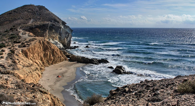 Cala Los Amarillos nude beach (Cabo de Gata, Andalucia, Spain)