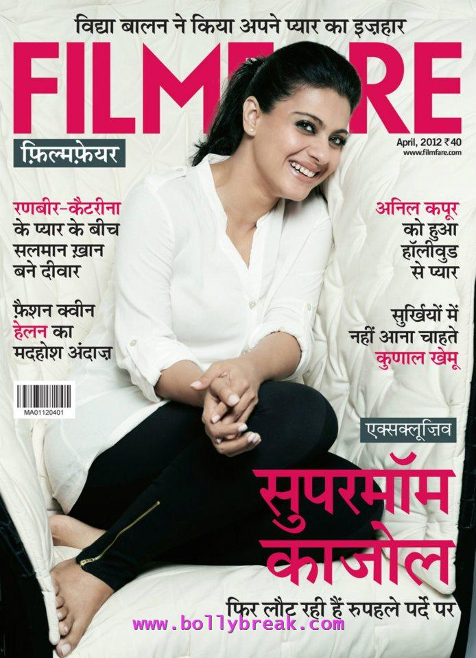 Kajol Hindi Filmfare Cover - Kajol Hindi Filmfare Cover Scan