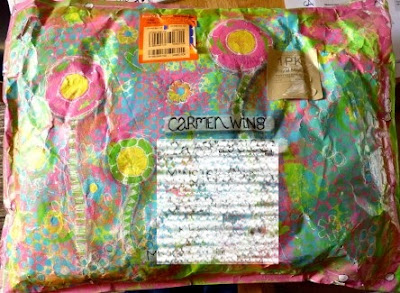 Gelli Plated Jiffy Bag by Jo (Fiddlesnips)