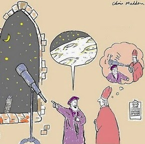 Galileo & The Pope in 1611 by Chris Madden.