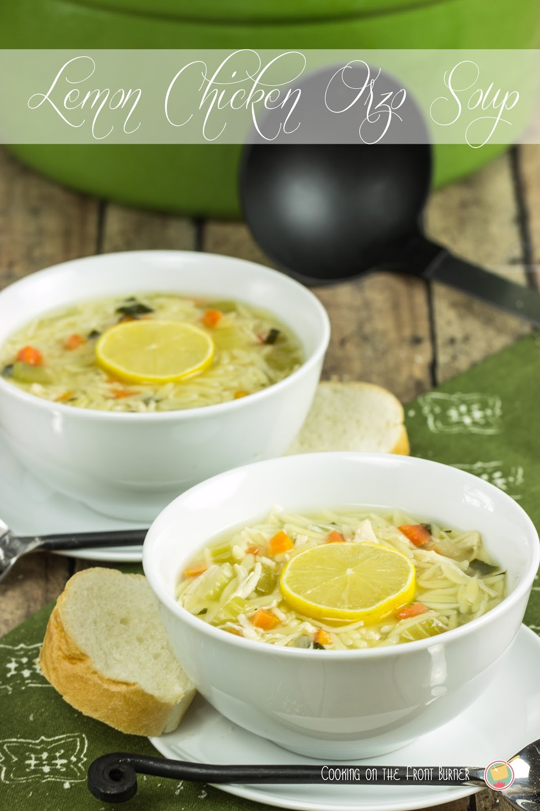 Lemon Chicken Orzo Soup | Cooking on the Front Burner #lemonsoup # ...