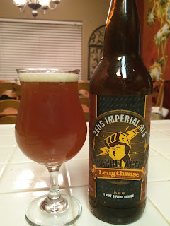 Lengthwise Zeus Barrel Aged Imperial Ale 1