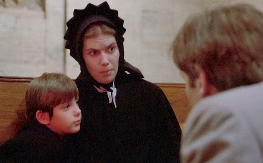 "witness amish and rachel First 10 mins of witness essay peter weir's film, ""witness"" reveals that  rachel and samuel, the  it's a story about an amish boy who witnesses a murder."