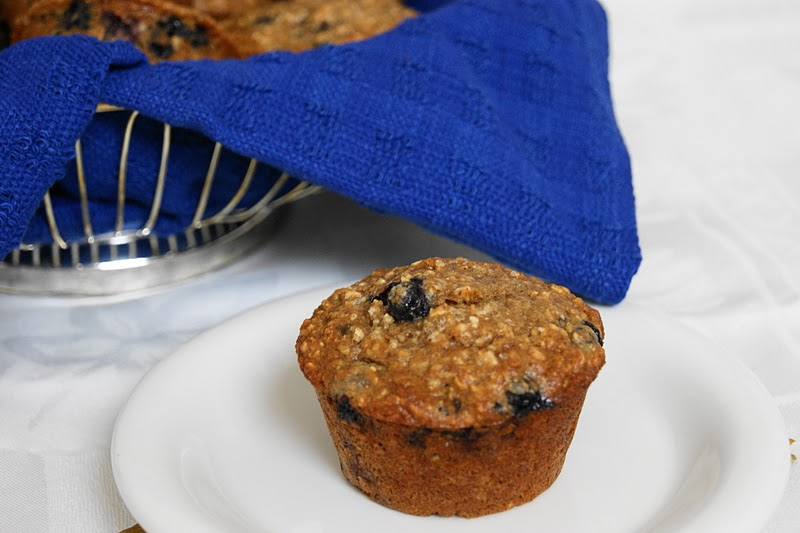 The Kitchen is My Playground: {Mostly} Whole Grain Blueberry Muffins
