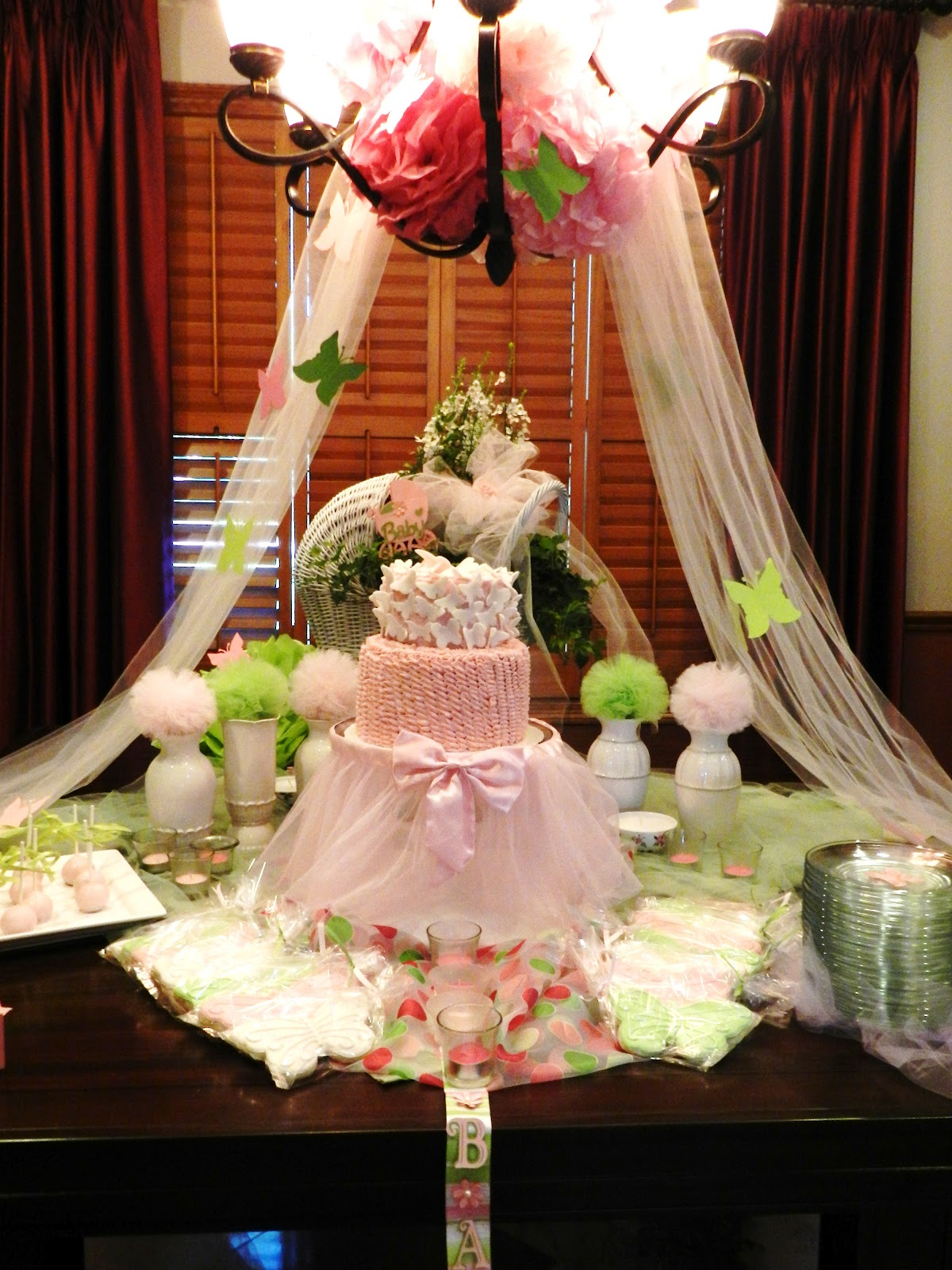 Sweet expectations butterfly baby shower for Baby shower decoration butterfly