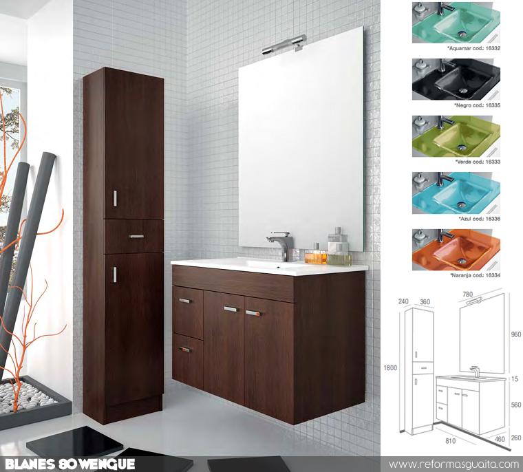 Muebles Para Baño Wengue:mueble+de+baño+blanes+80+wengue+salgar+economico+promocion