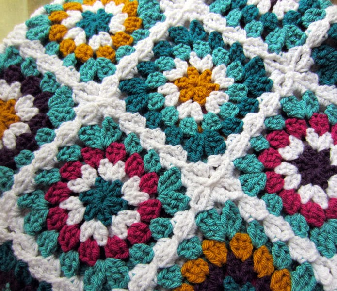 Crochet Patterns Granny Square Afghan : The granny squares for this afghan are fairly straightforward, very ...