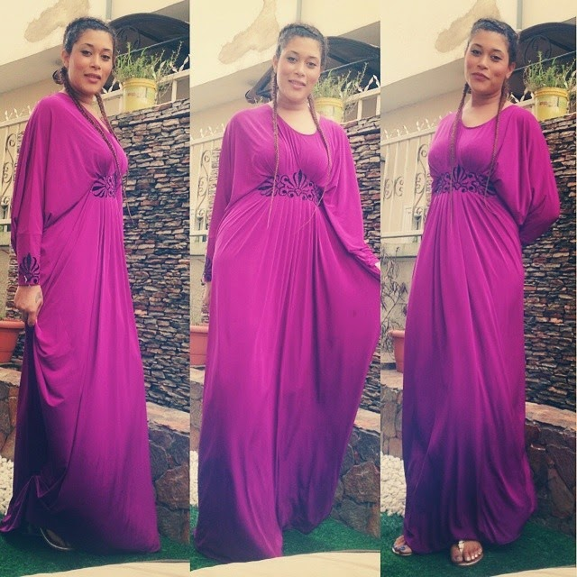 Nollywood Actress Adunni Adewale Shines in Purple