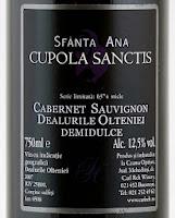 Sf Ana 2007 Cupola Sanctis Crama Oprisor ... pareri despre vin