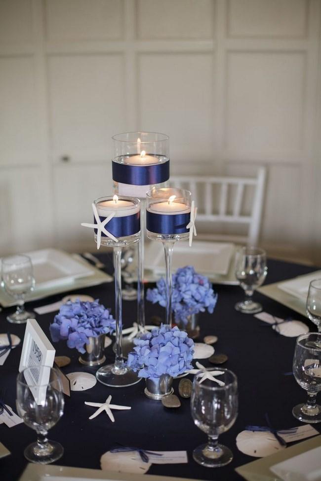 centros de mesa con copas