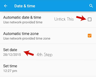 Turn Off Automatic Update of Time & Date