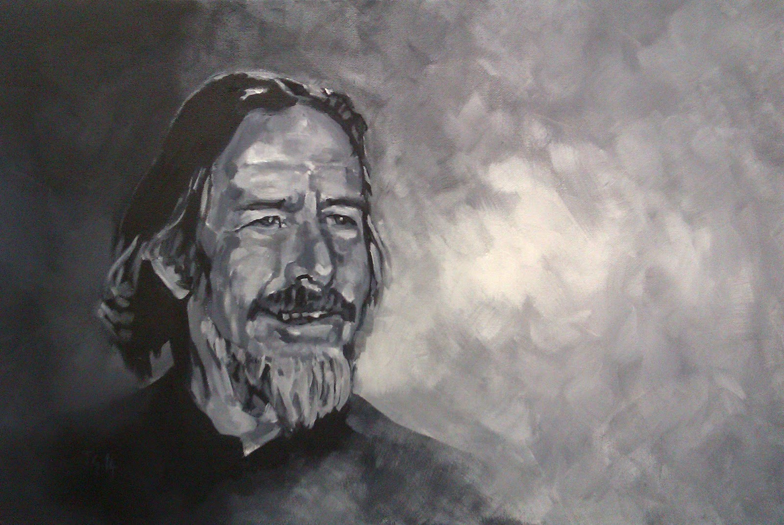 Alan Watts, Painting by Anthony Greentree