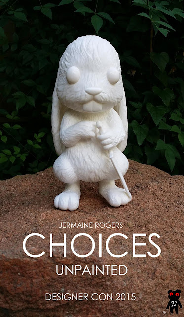 Designer Con 2015 Exclusive Unpainted Choices Vinyl Figure by Jermaine Rogers