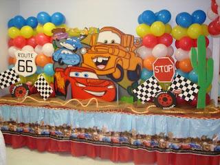 Decoração festa infantil do Carros