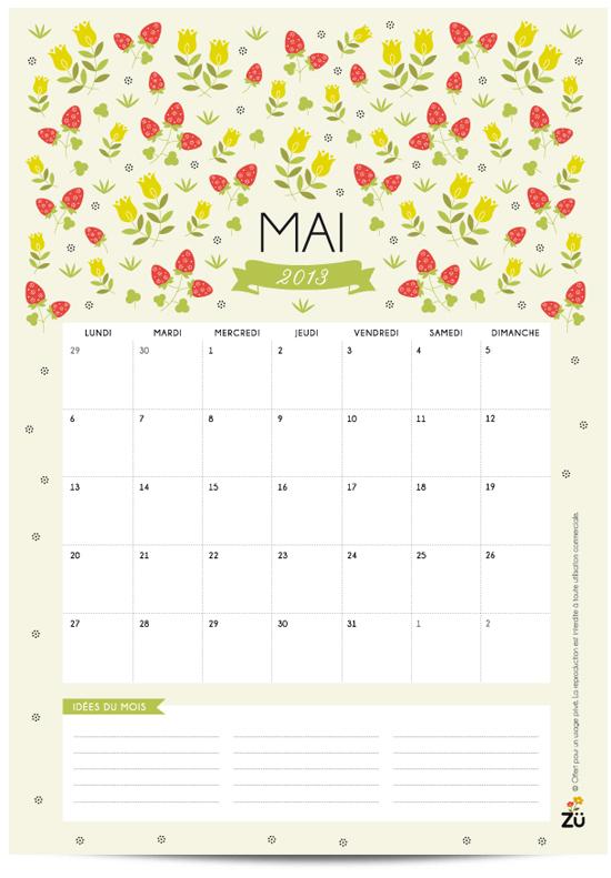 Calendar Zu : Freebies printable may wall calendar art and chic