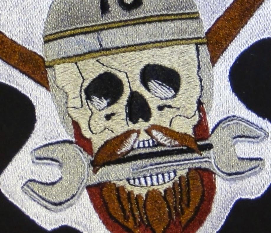 Вышиваем на заказ - по эскизам заказчиков или фото - вышитый череп, логотип байкеров