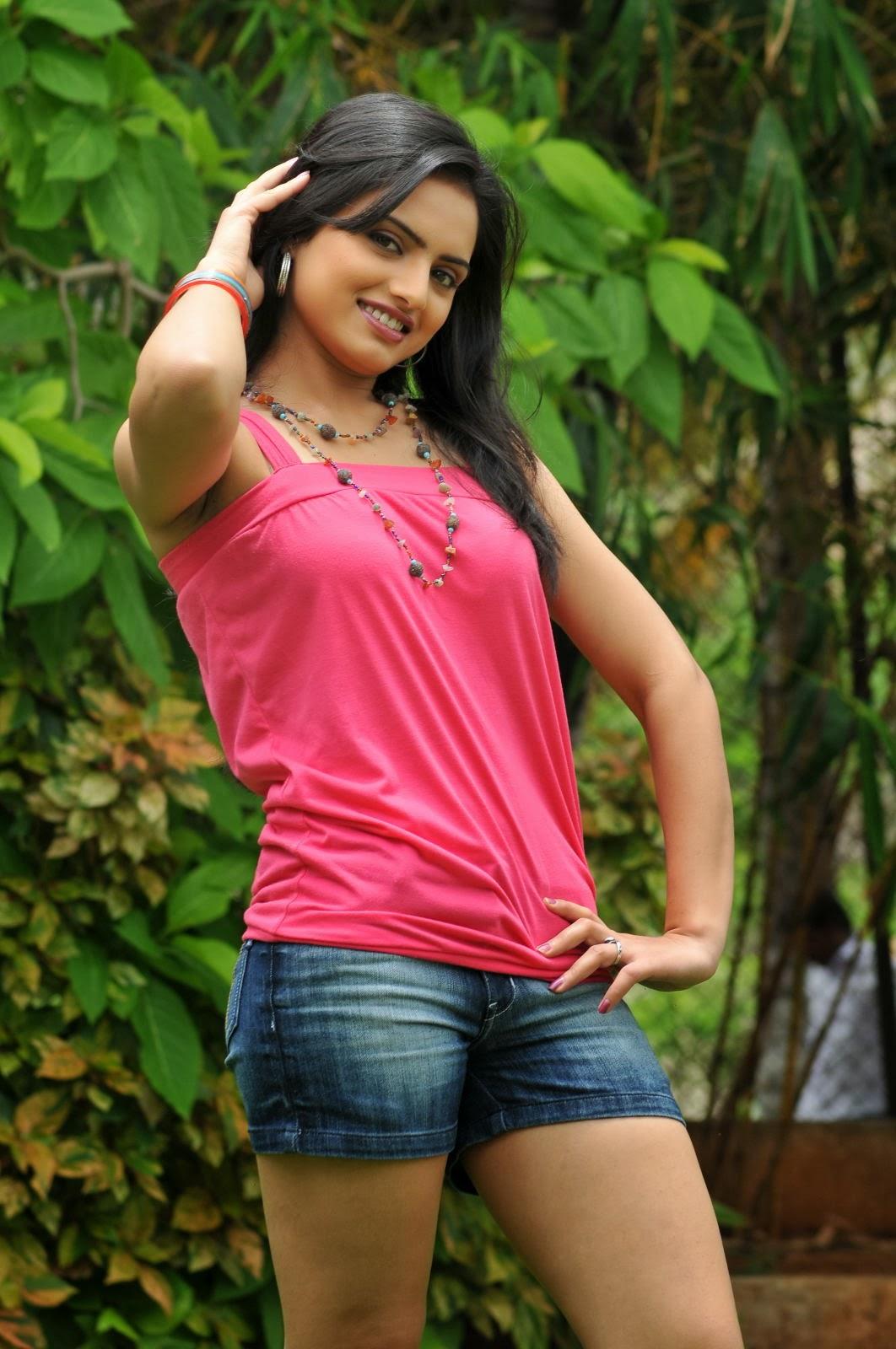 Reshma Shetty Shorts Gallery in denim shorts