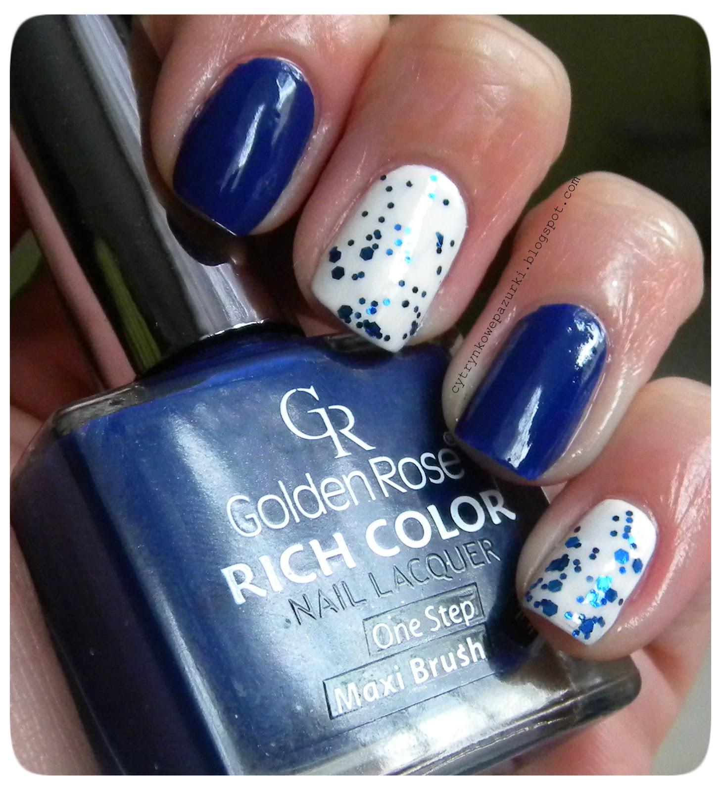Niebieski mix z użyciem GR Rich Color 16, Life 41 i Safari