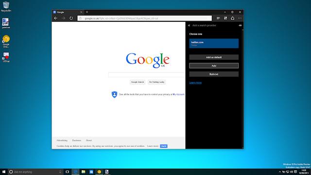 Tampilan Microsoft Edge