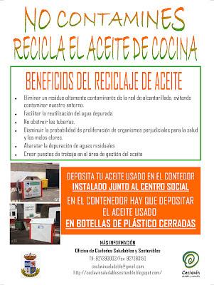 Ceclav n saludable y sostenible reciclaje de aceite de - Aceite usado de cocina ...