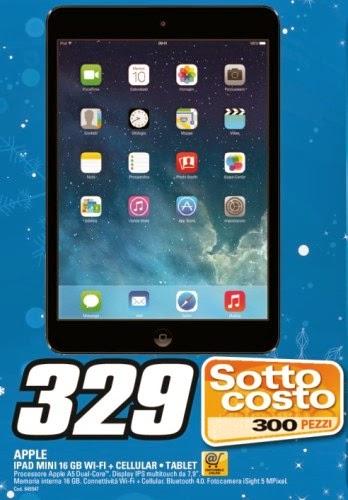 Da saturn a dicembre per natale una buona offerta a prezzo sottocosto sull'iPad Mini