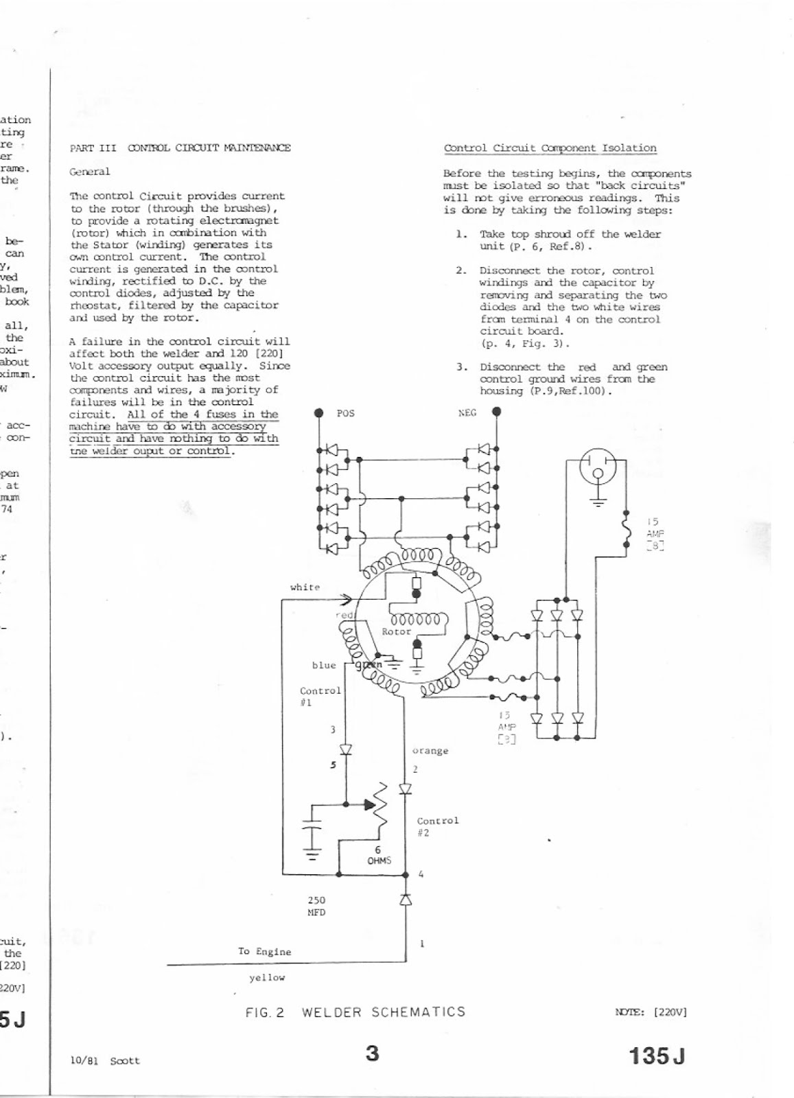 Bruce Teakles Pages Scott Welder Portable 135a Petrol Engine Maintainer Wiring Diagram To Download The 135 Amp Maintenance Manual As A Pdf Document Use This Link