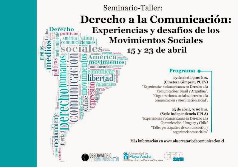 VALPARAISO: SEMINARIO TALLER, DERECHO A LA COMUNICACION