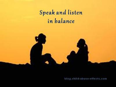 Speak and Listen in Balance