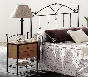 Muebles de forja cabecero cama y mesillas de forja colecci n nudos - Mesillas de forja ...