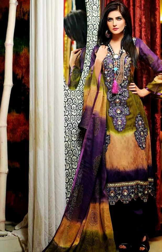 SalamsTextileSummerLawn2014 wwwfashionhuntworldblogspotcom 09 - Salam's Textile Spring-Summer Lawn Collection 2014