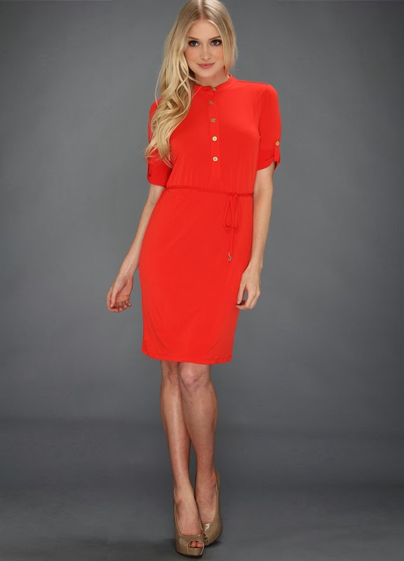 Über Chic for Cheap: Spied: Red Shirt Dress