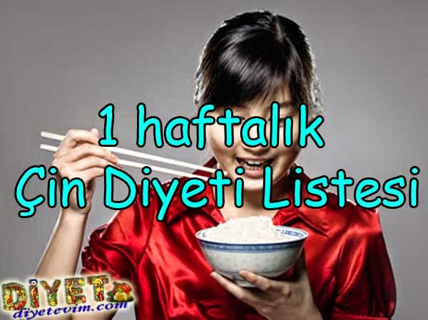 çin diyeti listesi - diet list