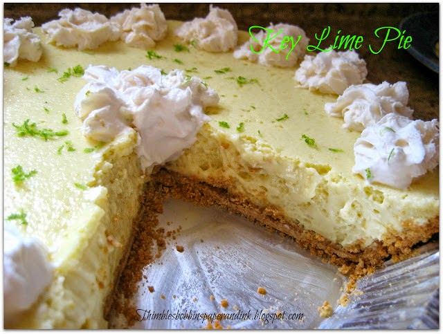 Key Lime Pie, shared by Thimbles, Bobbins, Paper and Ink
