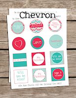 Printable Chevron Cupcake Toppers