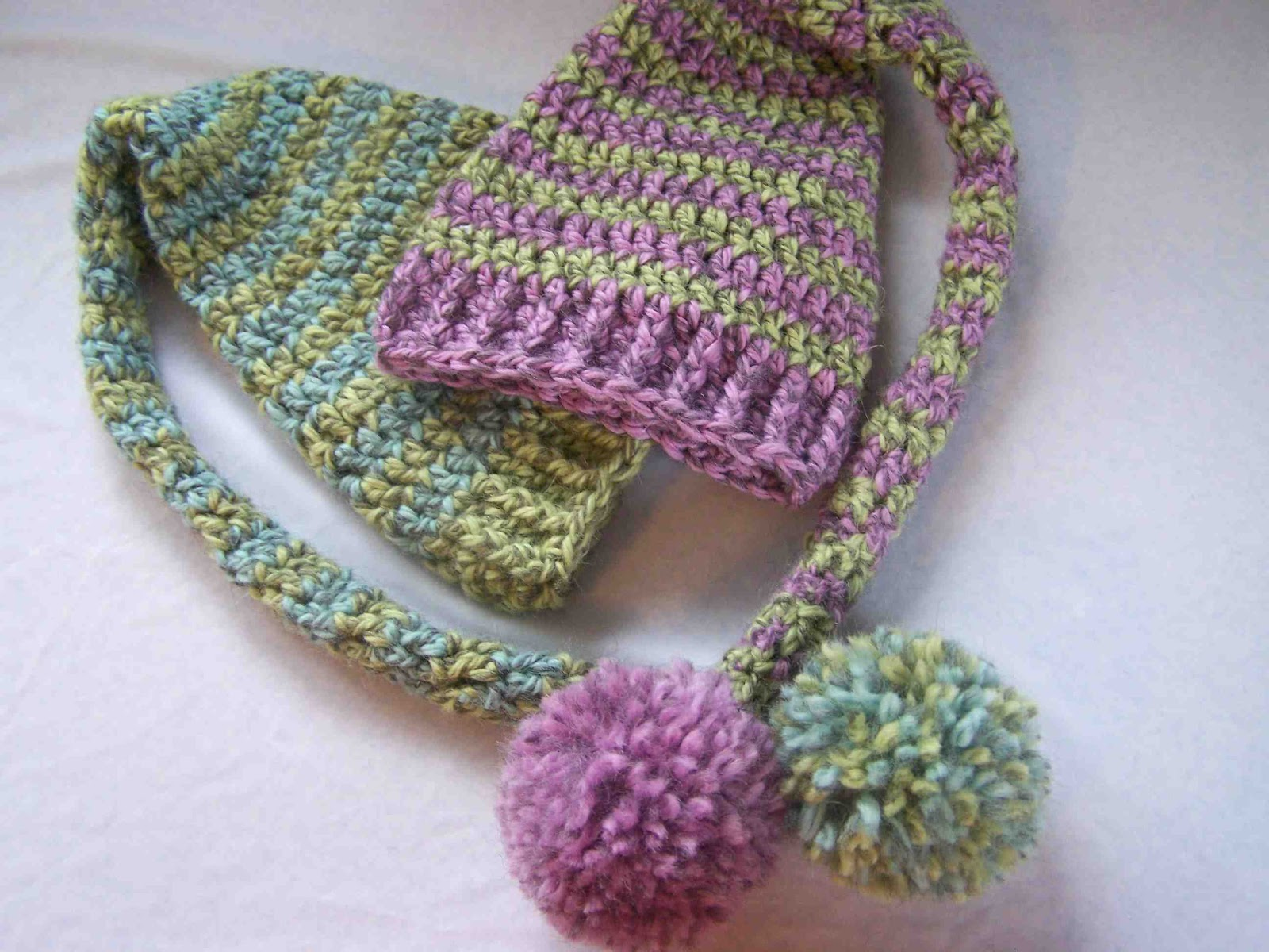 Crochet Baby Hat Pattern Beginner : Made by Me. Shared with you.: Beginners Crochet: Baby Elf Hats