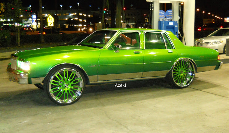 "Candy Green Chevy Box on 26"" Forgiatos"
