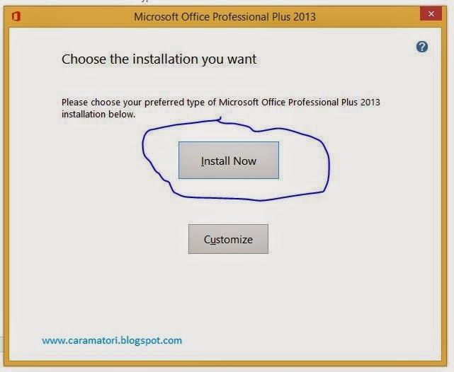 cara install microsoft office 2013 tanpa cd