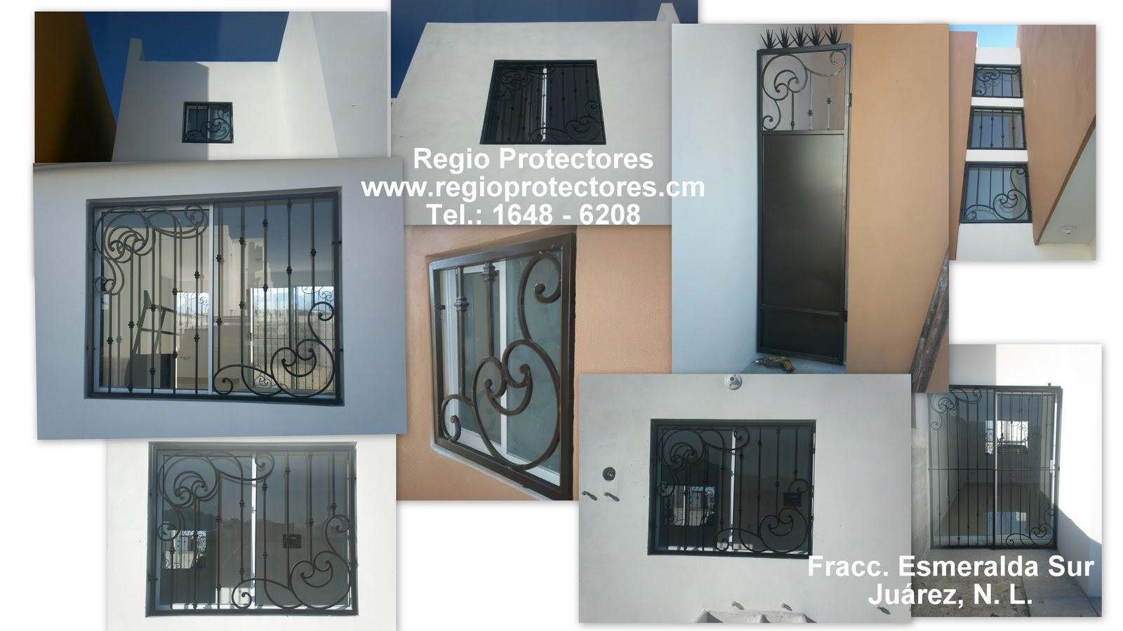 Regio Protectores, Protectores para ventanas instalados en el Fracc