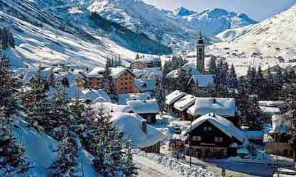 Pemandang Salju Terindah di Swiss