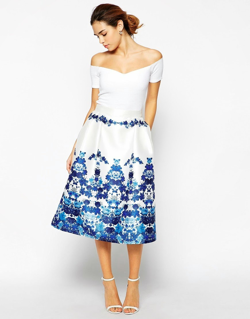 chi chi white off shoulder dress, chi chi prom dress, white dress with blue edge,
