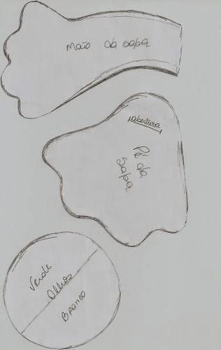 Moldes sapinha de tecido ou feltro