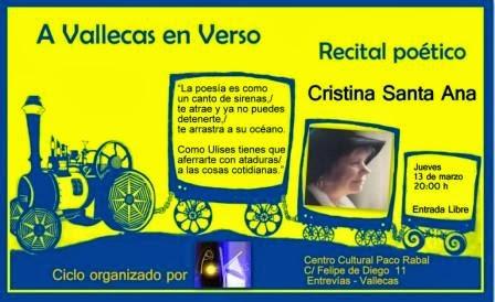 Para el 13 de marzo, no perderse a Cristina Santa Ana