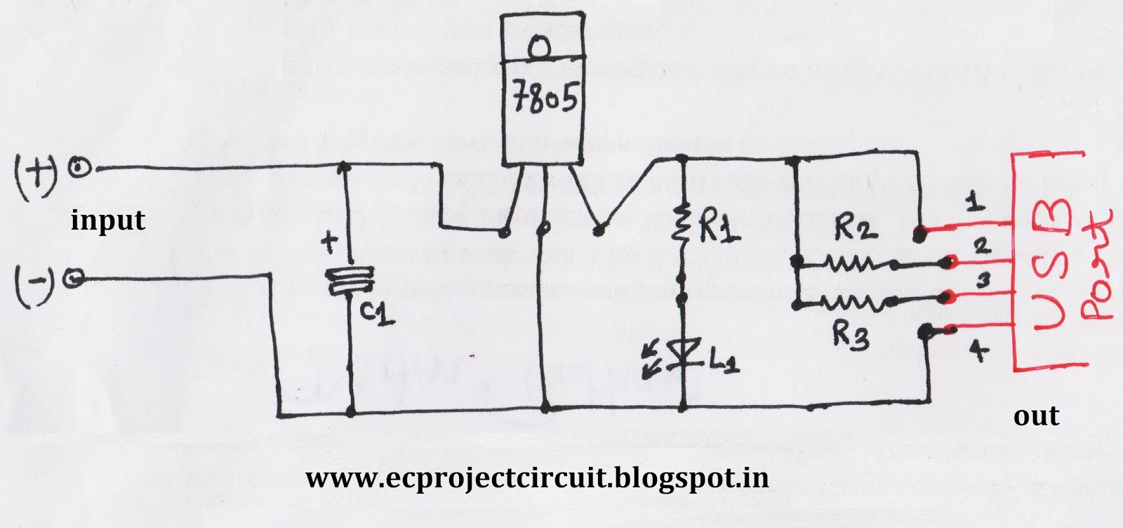 Usb Charger Circuit Schematic Trusted Wiring Diagrams To Battery Diagram 7805 U2022 Power Adapter