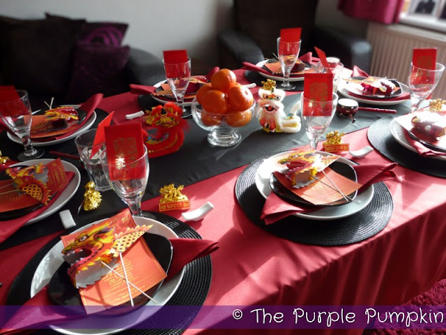 The Table Year Of Dragon Chinese Banquet Purple