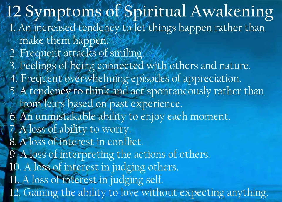 Spiritual Awakening Quotes Best Quotes Gallery 12 Symptoms Spiritual Awakening