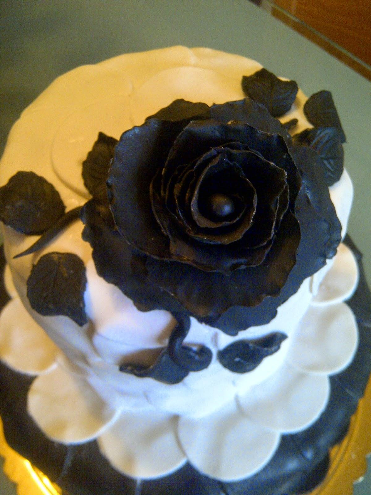 Art sugar crystals torta rosa nera pdz