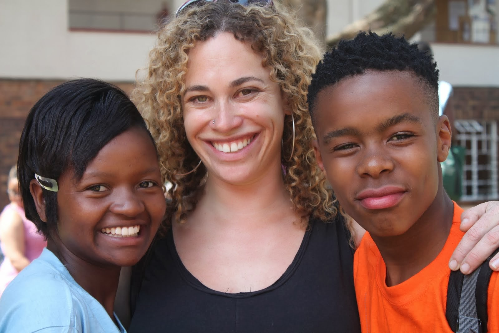 Nicky and her mentees, Zanele and Sandile