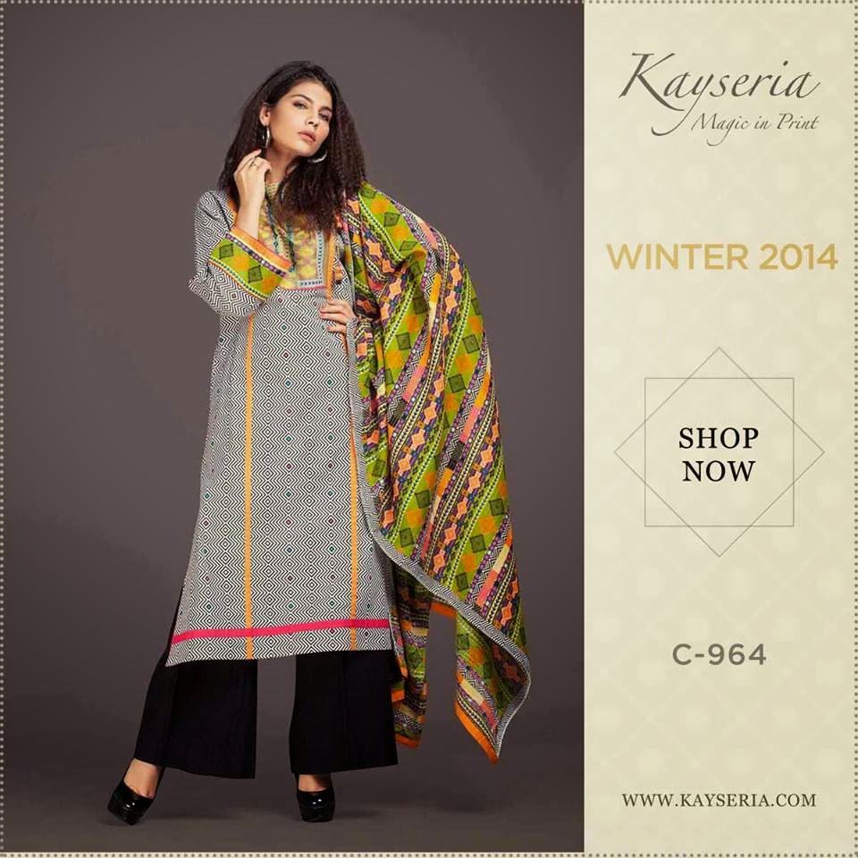 Elegant Kayseria Winter Dress 2014-15