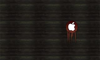 blood from Apple Mac logo